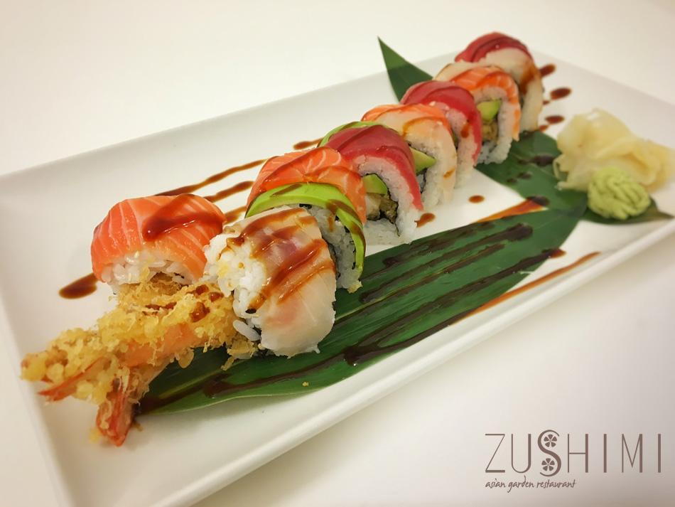 zushimi uramaki arcobaleno